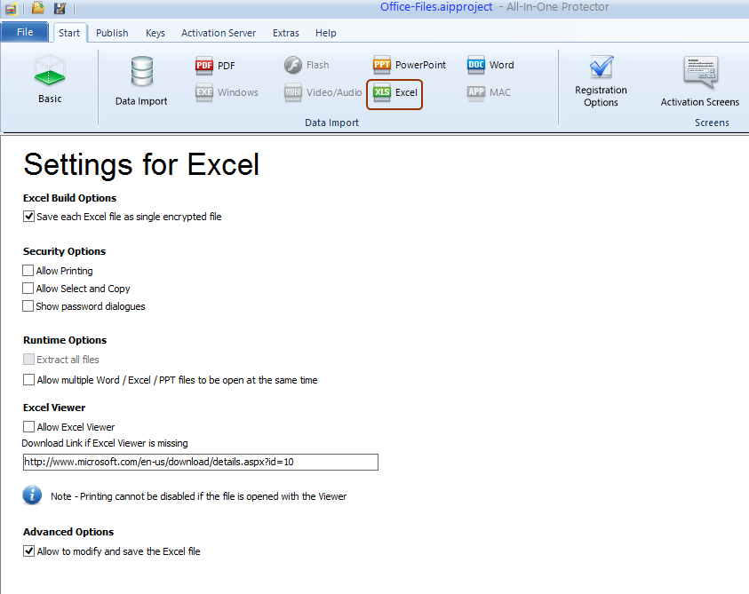 excel protection